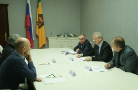 Ivan Belozertsev discussed issues of foam plastic production organization on the territory of Kuznetsk city